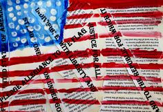 The smARTteacher Resource: Jasper Johns Mixed Media Flags