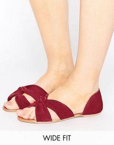 Zapatos de verano de ancho especial con nudo de ante JERICO de ASOS