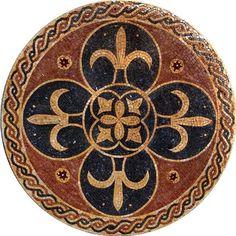 Mosaic Art Rondure- Heraldica for sale online Mosaic Designs, Mosaic Patterns, Pattern Art, Mosaic Artwork, Mosaic Wall, Styrofoam Art, Mosaic Art Projects, Tile Art, Tiles
