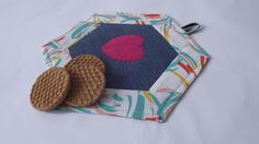 SALE!-Gift-Patchwork Denim Pot Holder-Patchwork Mug Rug-Stewpot-Saucepon Holder and Pad-Quilted Trivet-Christmas by duduhandmade on Etsy