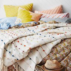 Sage and Clare Oscar Loop Insert Blanket $300 AUSD  Multicolour Textural Wool Loop Insert Throw Blanket