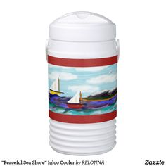 """Peaceful Sea Shore"" Igloo Cooler"
