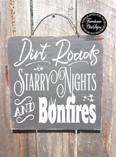 dirt road sign country decor country home decor bonfire