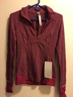 Lululemon Runderful 1/2 Zip Womens Size 4 Pullover Berry Rumble NWT #Lululemon #ShirtsTops