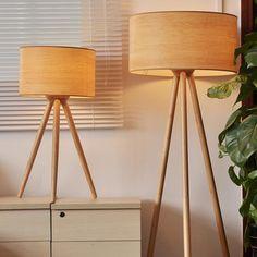 Tripod Wooden Floor Lamp