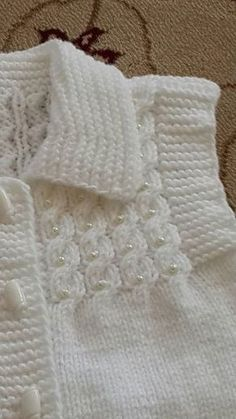 lace baby jacket knit with crochet accents from asian magazine found in russian site httpwwwliveinternetruusersbaby charts included - PIPicStats Diy Crafts Knitting, Knitting For Kids, Baby Knitting Patterns, Knitting Stitches, Knitting Designs, Baby Patterns, Free Knitting, Crochet Patterns, Knit Baby Sweaters