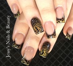 Jungle Fever Acrylic Nails by Jessy Anne Finn