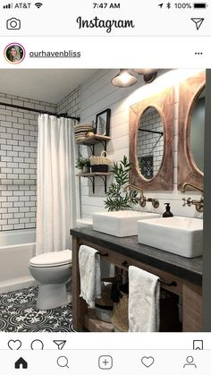 4 Far-Sighted Hacks: Affordable Bathroom Remodel Modern bathroom remodel bathtub tile.Bathroom Remodel Shower The Wall bathroom remodel traditional double sinks. Tiny Bathrooms, Beautiful Bathrooms, Modern Bathroom, Minimalist Bathroom, Modern Minimalist, Small Bathroom, Boy Bathroom, Bathroom Interior, Bathroom With Double Vanity