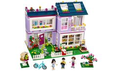 New Friends Series Emma& House Building Blocks Classic For Girl Kids Model Brick Toys Compatible with Lego 41095 Best Gift Model Building Kits, Building Toys, House Building, Legos, Toys For Girls, Kids Toys, Lego Friends Sets, Friends Series, Baby Goats