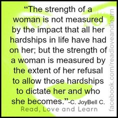 Strength of a woman...