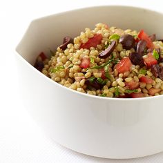WeightWatchers.fr : recette Weight Watchers - Salade de blé aux tomates et aux olives