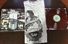 "THE GASLIGHT ANTHEM - American Slang LP (2012) Blood Red Vinyl + ""Tumbling Dice"" Shirt Bundle"