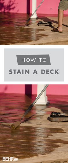 24 Best Staining a deck images