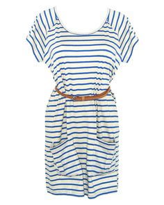 Ethical stripe jersey dress by Biblio (from fashion-conscience) - Made under a Fair Trade arrangement. Also available in red!