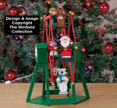 Tabletop Ferris Wheel and Rider Plans Its fun and mesmerizing to watch our six North Pole Riders go round and round!! Now you can bring the endless action of our popular outdoor Ferris Wheel inside your home....what a great conversation piece for the holidays! #diy #woodcraftpatterns