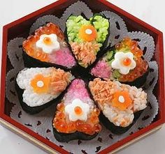 お花のお寿司