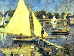 Pierre-Auguste Renoir - Sailboats at Argenteuil, 1874 (700x538, 501Kb)