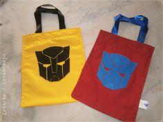 Ecobags em tecido Transformers 20 x 25 cm