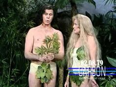 Betty White & Johnny Carson in Funny Skit as Adam and Eve on Johnny Cars...