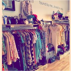 Inside the store with our handmade shelves by the wonderful Daddy Found.Loved
