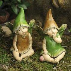 Baby Mushroom Fairies - Miniatures - View All - Dollhouse Miniatures - Doll Making Supplies - Craft Supplies