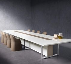 Office Table Design, Modern Office Design, Office Interior Design, Office Interiors, Design Entrée, Lobby Design, Table Mobile, Meeting Table, Meeting Rooms