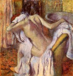 Edgar Degas: After the Bath (Woman drying Herself), 1896-98
