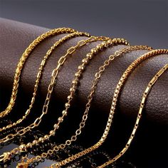 Gold Chain Men Pendants Charm Chian Necklace for Women: Wheat/ Bead/ Rolo/ Box Chains Gold Gold, Gold Chain Indian, Gold Chain Design, Gold Bracelet For Women, Gold Chain Bracelets, Chain Necklaces, Chain Jewelry, Statement Necklaces, Black Hills Gold Jewelry