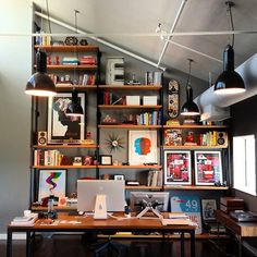 Cool home office design room awwwards grand designs for small workspaces the freelancers dream office Small Workspace, Workspace Design, Office Workspace, Office Shelving, Ikea Office, Wall Shelving, Desk Space, Home Design Decor, Home Office Design