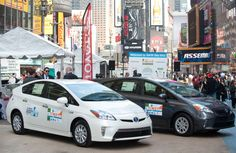 Three of my favorite things: Earth Day, Times Square and Toyota Prius. What a winning combination!