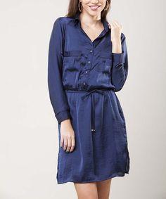Look at this #zulilyfind! Blue Eula Dress by Peruvian Atelier #zulilyfinds