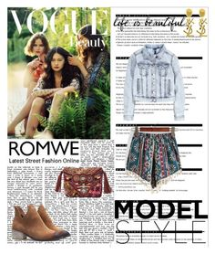 """ROMWE 6/8"" by antonija2807 ❤ liked on Polyvore featuring Arche, Yves Saint Laurent, H&M and Gypsy05"