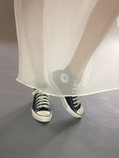 A study in contrast   Converse Chuck Tailors  Thakoon dress