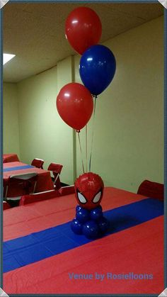 Centro de mesa Spiderman