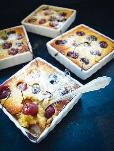#Clafoutis aux cerises #recette #clafoutis mit Kirschen #dessert #rezept #kirschauflauf