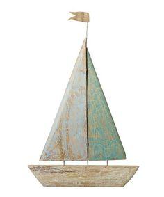 69.99-19W X 1D X 29H MANGO WOOD Carved Sail Boat Wall Décor. on #zulily! #zulilyfinds