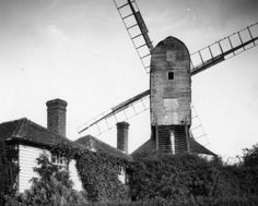Emma Lou, Le Moulin, Windmills, Willis Tower, English, Building, House, Painting, Ideas