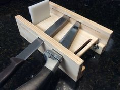Adjustable bread slicing guide 2nd generation Electric Knife, Lathe, Mystery, Bread, Wood, Kitchen, Cooking, Computer Case, Woodwind Instrument