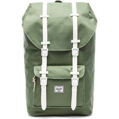 Herschel Supply Co. Rad Cars Collection Little America Backpack (100 PAB) ❤ liked on Polyvore featuring bags, backpacks, accessories, pocket backpack, green backpack, snap bag, flap backpack and backpacks bags