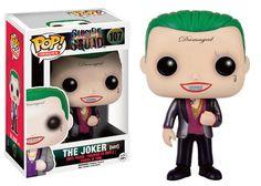 Cabezón The Joker (Suit) 9 cm. Escuadrón Suicida. Línea POP! Heroes. Funko  Estupendo cabezón del personaje de The Joker (Suit) de 9 cm, uno de los protagonistas que podremos ver en el film titulado Escuadrón Suicida, fabricado en material de vinilo y por supuesto 100% oficial y licenciado. Ideal para regalar.