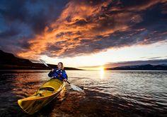 An amazing sunset during the kayaking tour in Iceland #Kayak #kayaking #Iceland #Extreme #ExtremeIceland #Westfjords