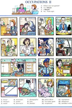 78 - OCCUPATIONS 2A - Picture Dictionary - English Study, explanations, free exercises, speaking, listening, grammar lessons, reading, writing, vocabulary, dictionary and teaching materials