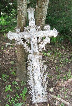 Crucifix in the garden