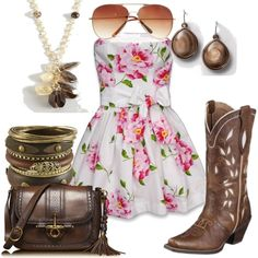 I like the dress and boots for maybe bridesmaids? hmmmm