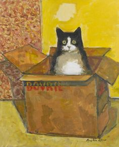 Cat in a Bovril Box by Ruskin Spear on Curiator, the world's biggest collaborative art collection. Cat Sketch, Collaborative Art, Here Kitty Kitty, Vintage Cat, Cat Drawing, Indian Art, Crazy Cats, Cat Art, Pet Birds
