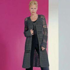 Modell 143/0, Häkelmantel aus Micro von Junghans-Wolle « Damenmodelle « Häkelmodelle « Stricken & Häkeln im Junghans-Wolle Creativ-Shop kaufen