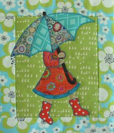 Love this, especially since we are base in #Washington! April Showers mini quilt at Quilt Vine