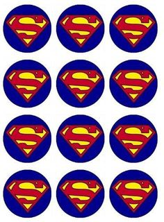 Superman Cupcake Toppers Edible Image For Birthday Party Edible with Superman Cupcake Toppers Edible Image For Birthday Party Edible Cupcake Toppers Bolo Do Superman, Superman Cupcakes, Superman Baby, Superhero Superman, Superhero Cake, Superman Birthday Party, Batman Party, Cupcake Party, Supergirl