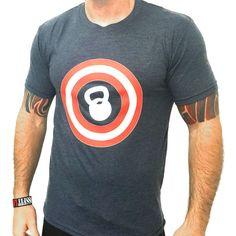 Captain America Kettlebell Tee