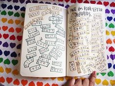 A page for four-letter words, from Wreck this Journal